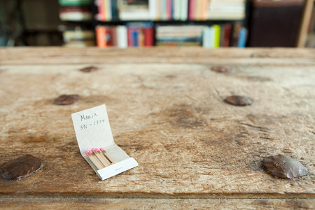 adultery: Phone number on a matchbook