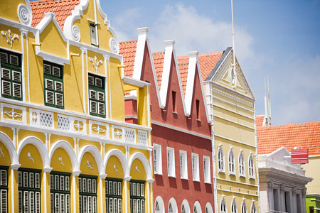 traditionally dutch: Buildings in Willemstad, Curacao, Antilles