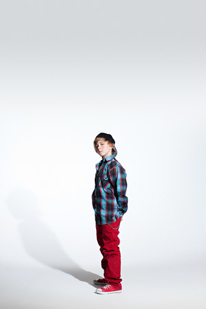 shadowed: Portrait of a teenage boy