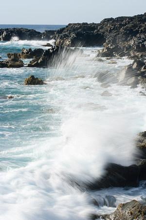 Sea and black lava rocks, Los Hervideros, Lanzarote