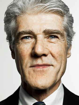 Studio portrait of confident senior businessman