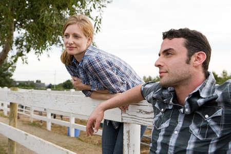farmyards: Couple in paddock