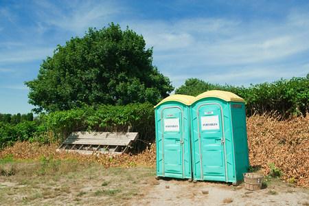montauk: Portable toilets in Montauk, Long Island