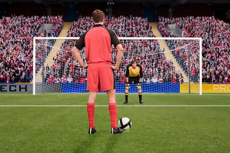 Goalkeeper anticipating free kick LANG_EVOIMAGES