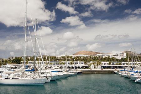 Yachts in Puerto Calero marina, Lanzarote