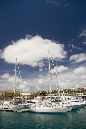 lavish: Yachts in Puerto Calero marina, Lanzarote