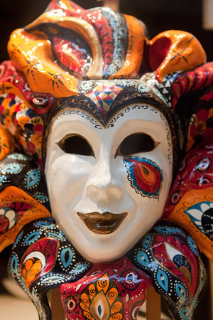 cropped out: Venice carnival mask