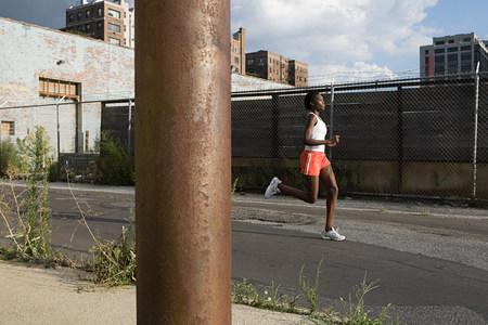 athleticism: Woman running in brooklyn