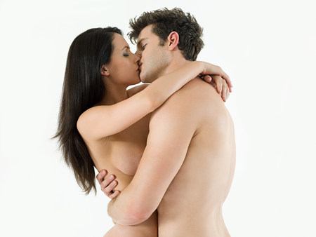 adult sex: Nude couple kissing