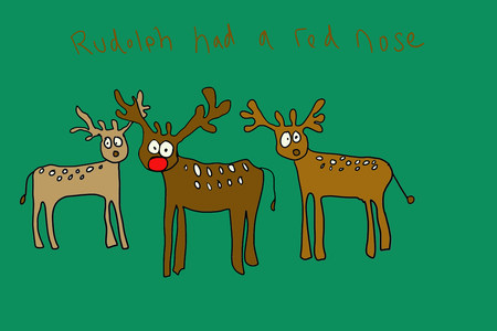 computer animation: Rudolph had a red nose