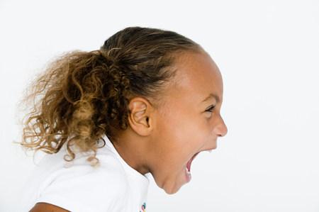Girl screaming LANG_EVOIMAGES