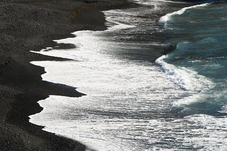 Surf on black lava beach, Los Hervideros, Lanzarote