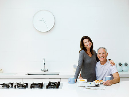 50 54 years: Mature couple having breakfast LANG_EVOIMAGES