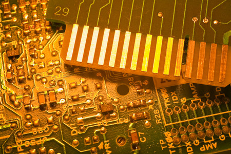 extreme close up: Circuit board