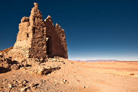 Ruined grain store, Ait-Ben-Haddou, Morocco, North Africa LANG_EVOIMAGES