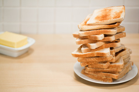 Stack of toast