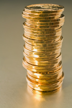 Stack of Canadian dollar coins
