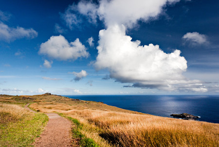 way out: Easter island,polynesia