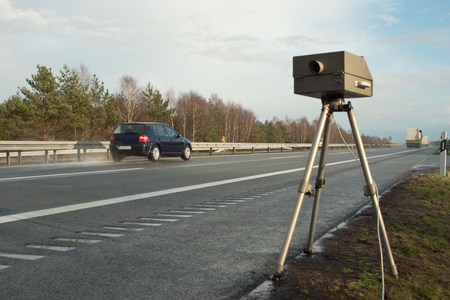 enforcing the law: Speed limit enforcement on German motorway LANG_EVOIMAGES