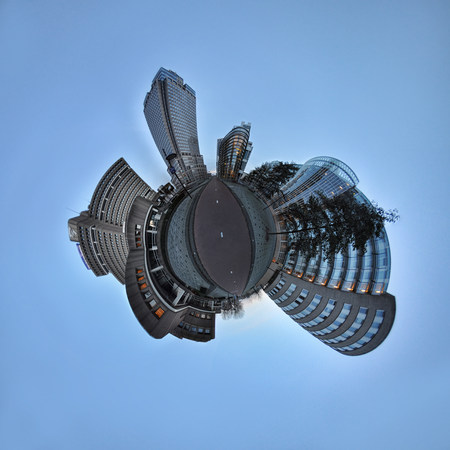 highrises: Amstel Business Park,Amsterdam,little planet effect
