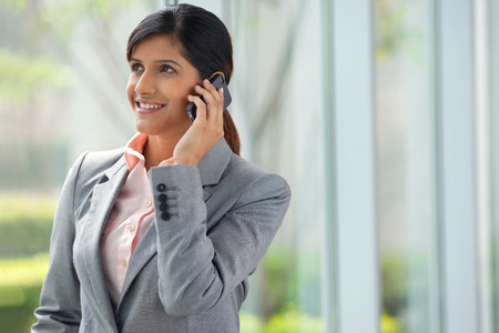 chic woman: Businesswoman talking on a mobile phone