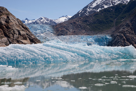 Blue Ice at Tracy Arm Glacier