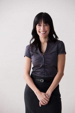 chic woman: Portrait of mature woman smiling,studio shot