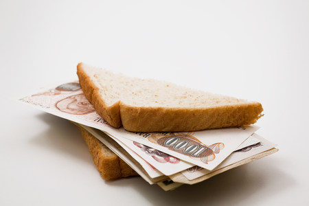 Sandwich with banknotes LANG_EVOIMAGES