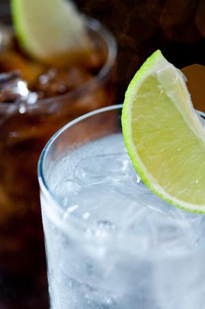 Lemonade and cola drinks