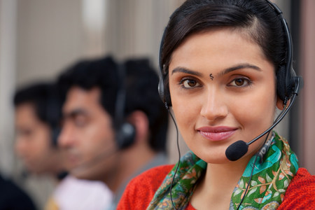 gifted: Portrait of a female call center agent