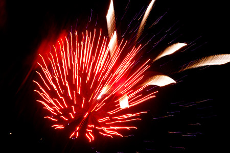 guy fawkes night: Red firework explosion