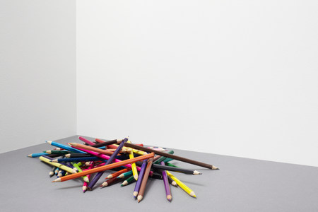 untidiness: Stack of colouring pencils