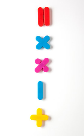 multiplication: Mathematical symbol fridge magnets LANG_EVOIMAGES