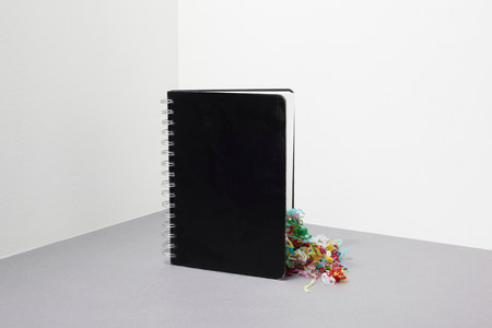 Notebook with streamers inside