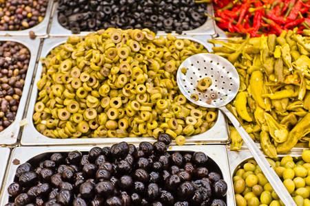 Olives at market,Houmt Souk,Djerba,Tunisia