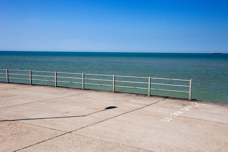 way out: Promenade by the sea,Margate,Kent,UK