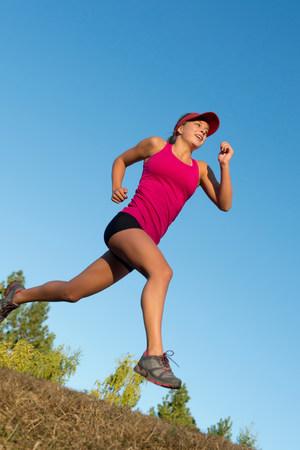 Teenage girl running