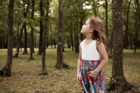 liberating: Girl in forest