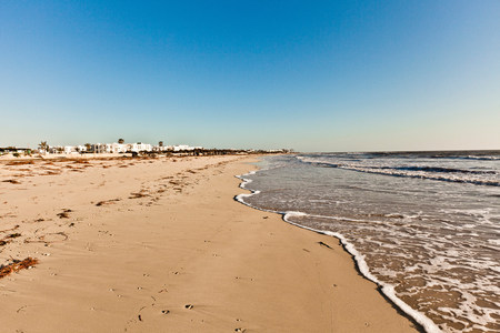 Beach on island of Djerba,Tunisia LANG_EVOIMAGES