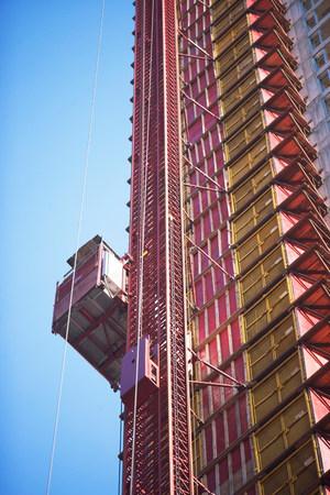tilting: Skyscraper under construction