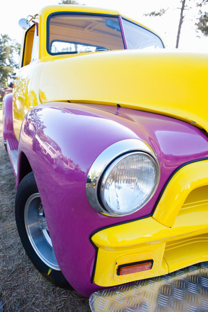Headlight of colorful car LANG_EVOIMAGES