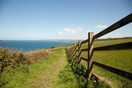 fenced in: Coastal path,Cornwall,England,United Kingdom