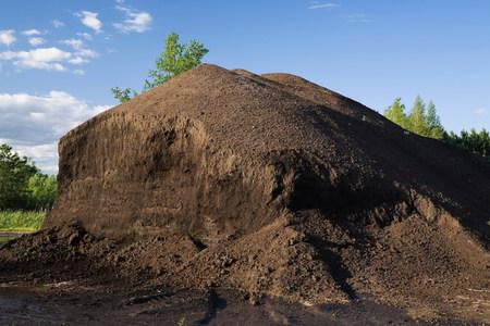 Pile of topsoil