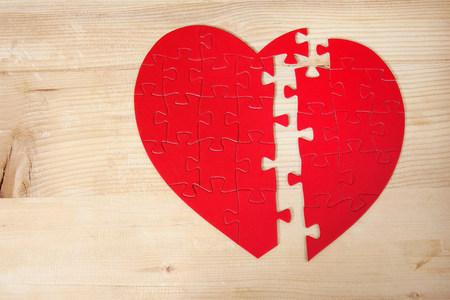 endings: Heart shaped jigsaw puzzle