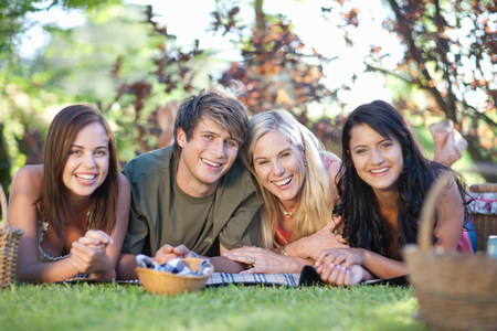 19 year old boy: Family having picnic together