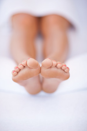 Close up of womans feet