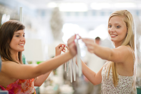 Women shopping together in store LANG_EVOIMAGES