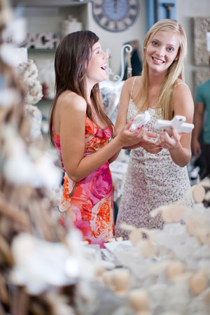 shopping buddies: Women shopping together in store LANG_EVOIMAGES