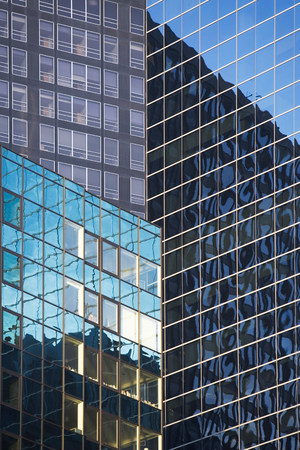 mirroring: Buildings reflected in urban skyscrapers
