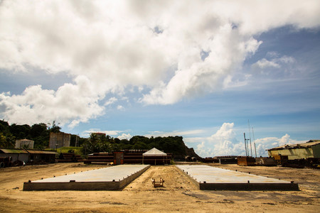 Foundations laid at construction site
